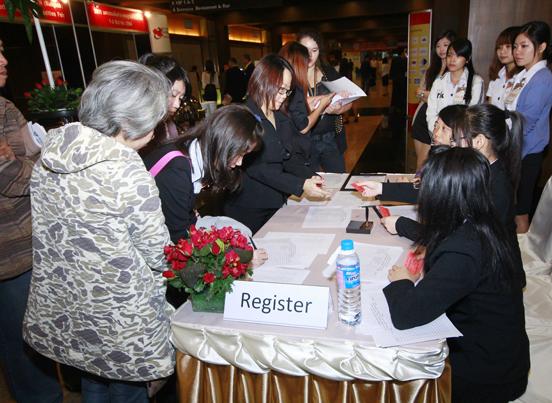 第三届中国东盟经贸集论坛签到现场