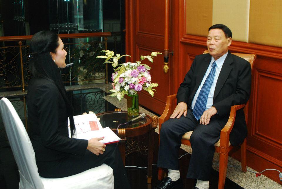 新闻发布会—泰国中央电视台专访商会刘泽臣主席