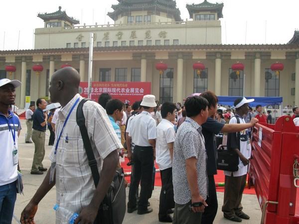 国外客户参观现代农业展